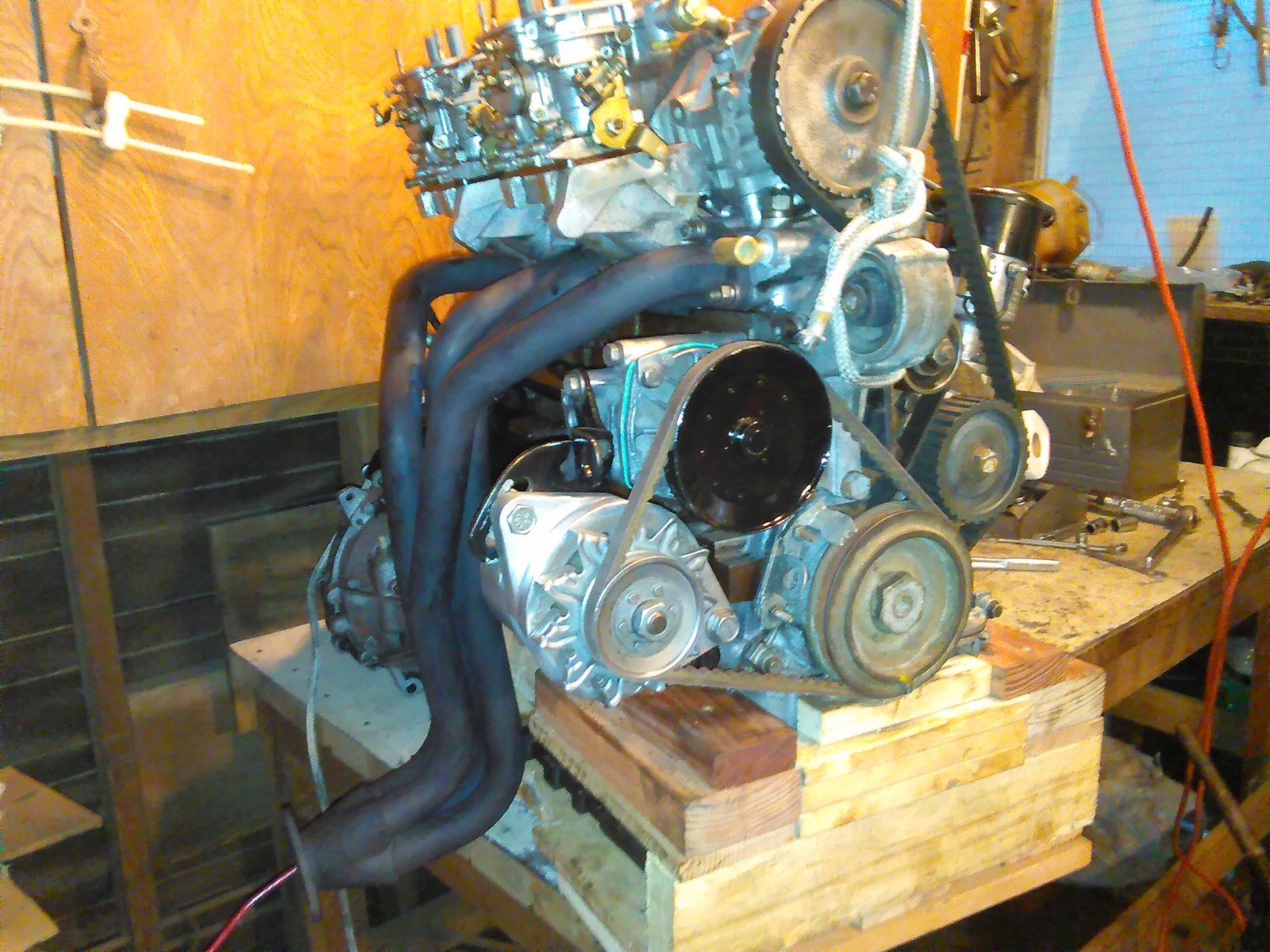 Completed engine-transaxle on bench - Right - 2018_01_01.jpg