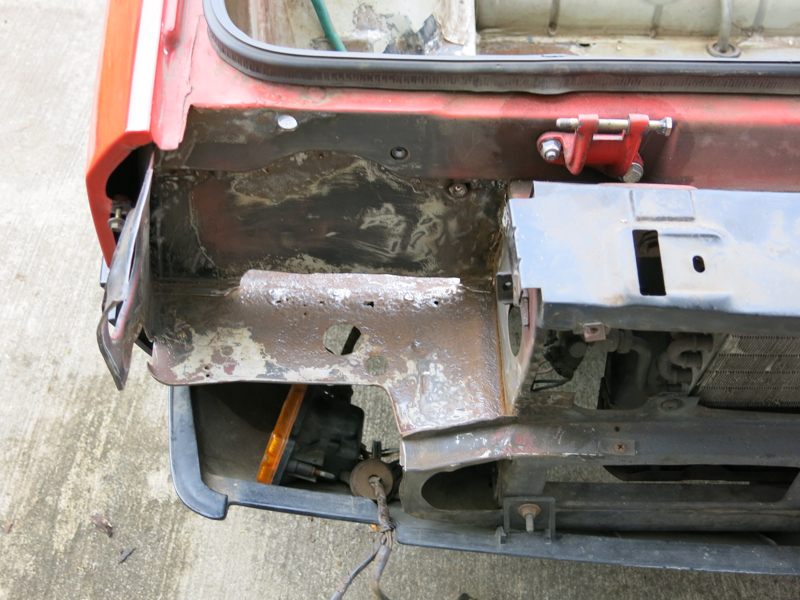 Lancia# 209, battery box paint strip.JPG