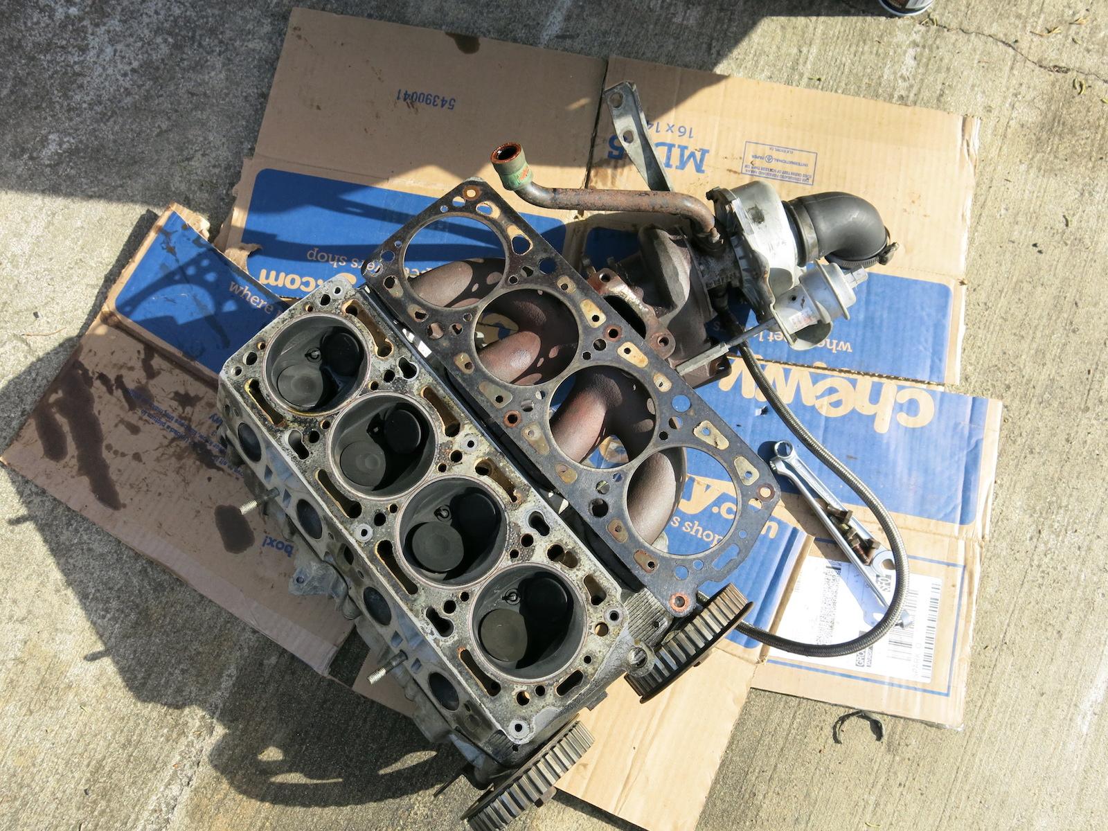 Lancia# 209, cyl head & gasket off.JPG